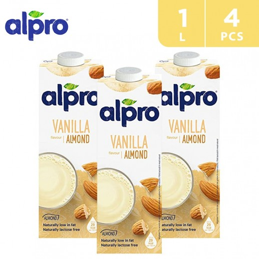 Alpro Soya Almond Touch Of Vanilla 4 x 1 L