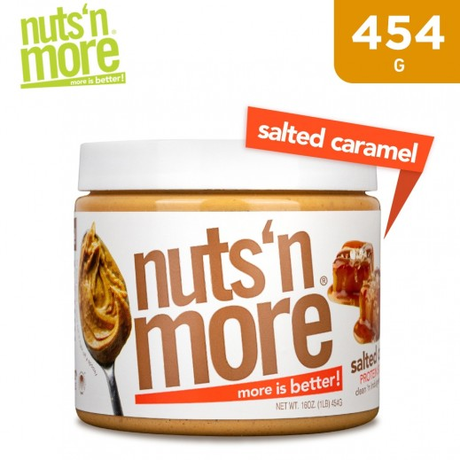 Nuts 'N More High Pro + Peanut Spread Salted Caramel 454 g