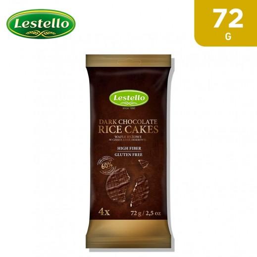 Lestello Gluten Free Rice Cakes With Dark Chocolate 72 g