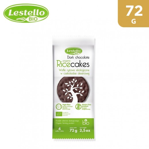 Lestello Bio Organic & Gluten-Free Rice Cakes With Dark Chocolate 72 g