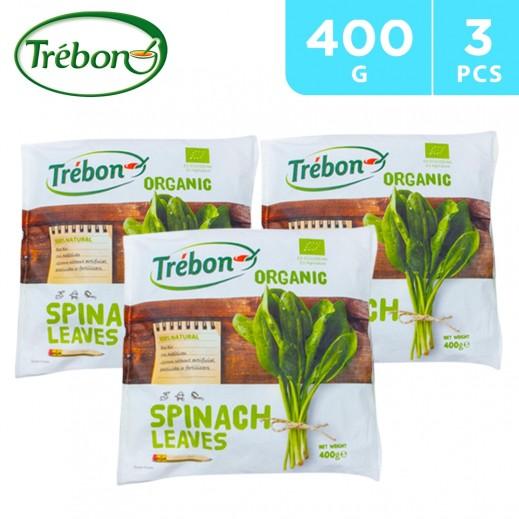 Trebon Organic Spinach Leaves 3 x 400 g