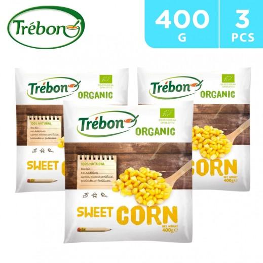 Trebon Organic Sweet Corn Kernels 3 x 400 g