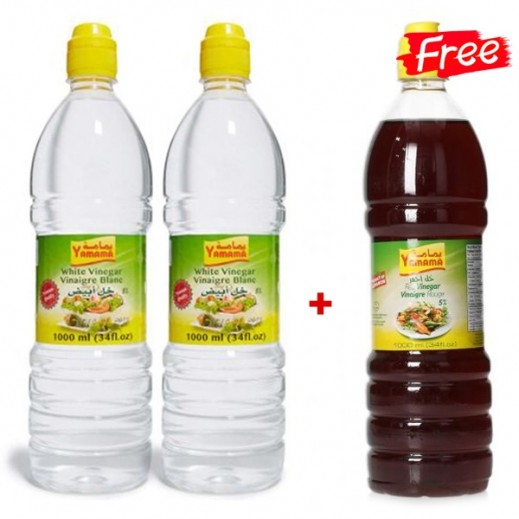 Yamama White + Red Vinegar 1 L (2 + 1 Free)