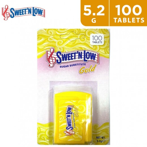 Sweet 'N Low Sugar Substitute Sucralose Gold 5.2 g (100 Tablets)