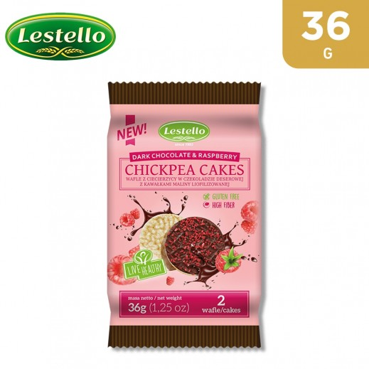Lestello Gluten Free Dark Chocolate & Raspberry Chickpea Cake 36 g