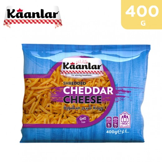 Kaanlar Shredded Cheddar Cheese 400 g
