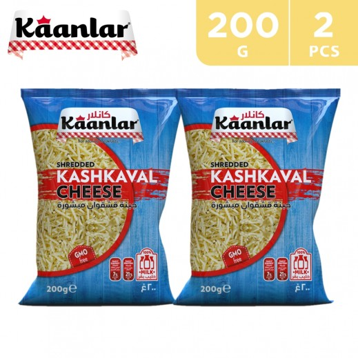 Kaanlar Shredded Kashkaval Cheese 2 x 200 g