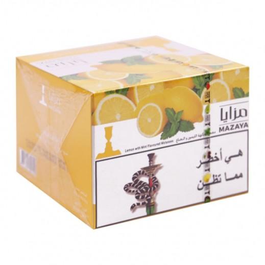 Mazaya Lemon With Mint Flavoured Molasses Tobacco 250 g