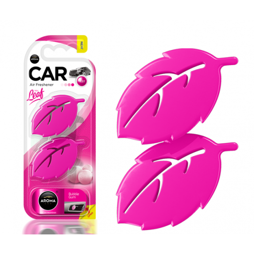 Aroma 3D Leaf Car Freshener – Bubble Gum