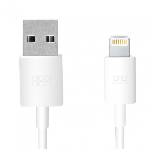 Promate Linkmate Apple MFI Certified Lightning Cable 1.2m White