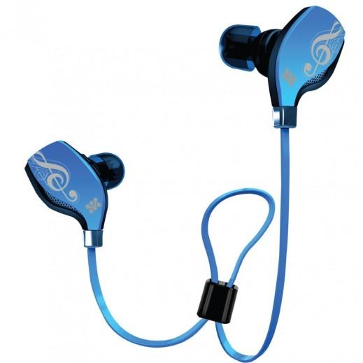 Promate Lite-2 Premium Sporty Universal Wireless Gear Buds Blue