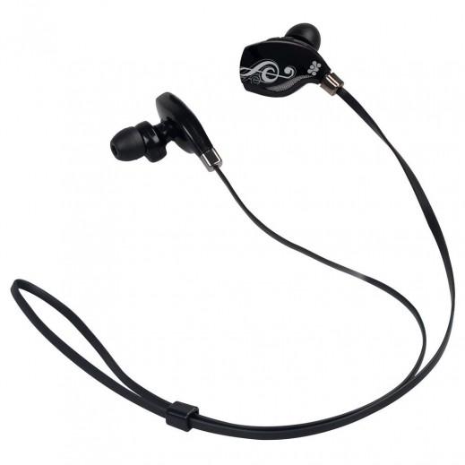 Promate Lite-2 Premium Sporty Universal Wireless Gear Buds Black