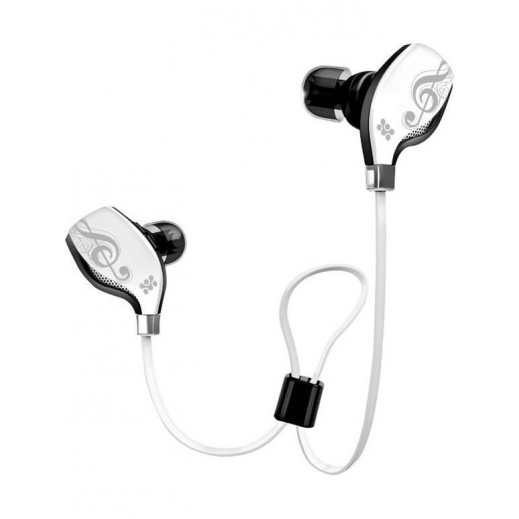 Promate Lite-2 Premium Sporty Universal Wireless Gear Buds White
