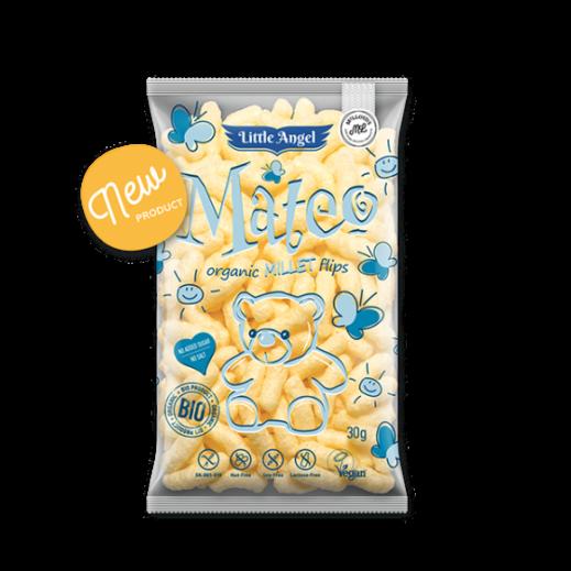 Little Angel Mateo Organic Gluten Free Millet Hips Corn Snack 30 g