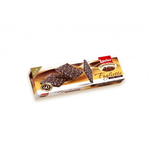 Loacker Fogliette Dark-Noir Chocolate Biscuits 100 g