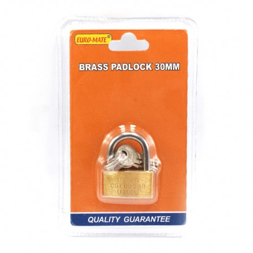 Euro Mate Brass Padlock 30 mm