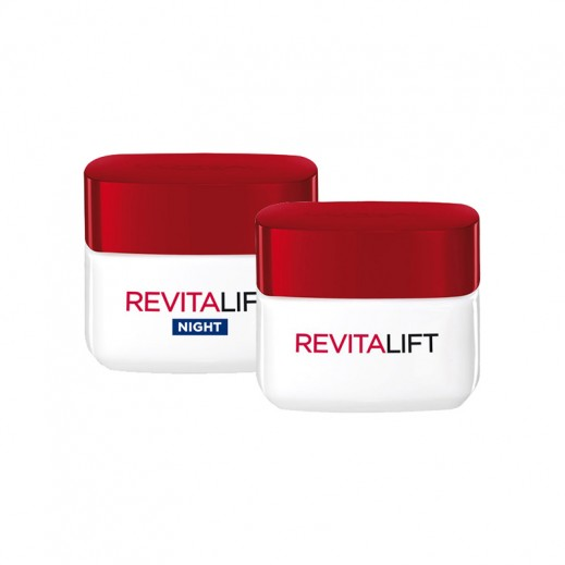 L'oreal Revitalift Day + Night Cream 50ml Each