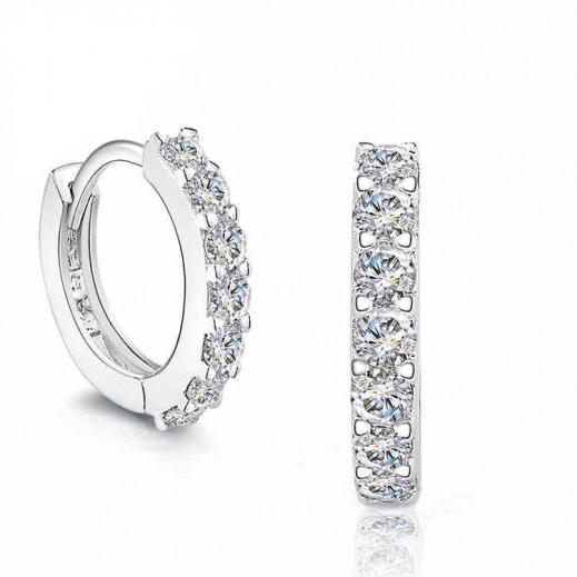 Yemma Pure 925 Sterling Silver CZ Diamonds Never Fade Earrings M01392