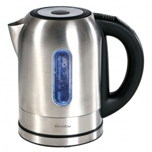 Domo Clip Stainless Steel Electric Cordless Kettle 1.7 Ltr 2200 W - Silver