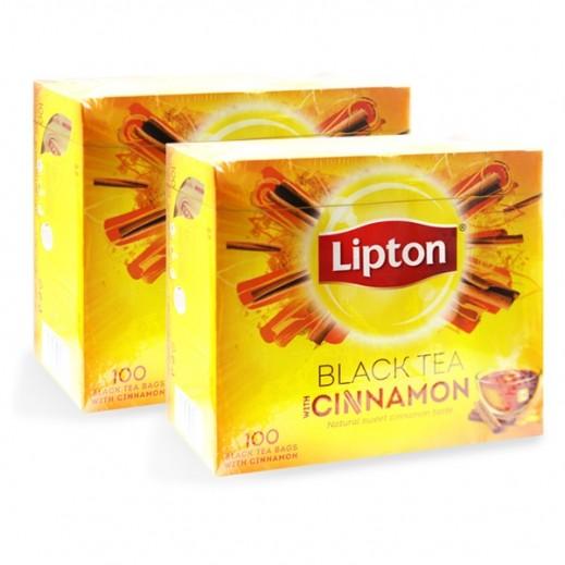 Lipton Yellow Label Tea Cinnamon 2 x 100 Bags