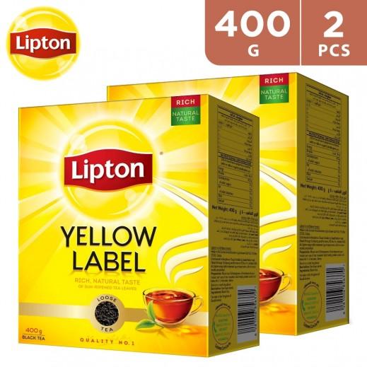 Lipton Yellow Label Tea Packet 2 x 400 g