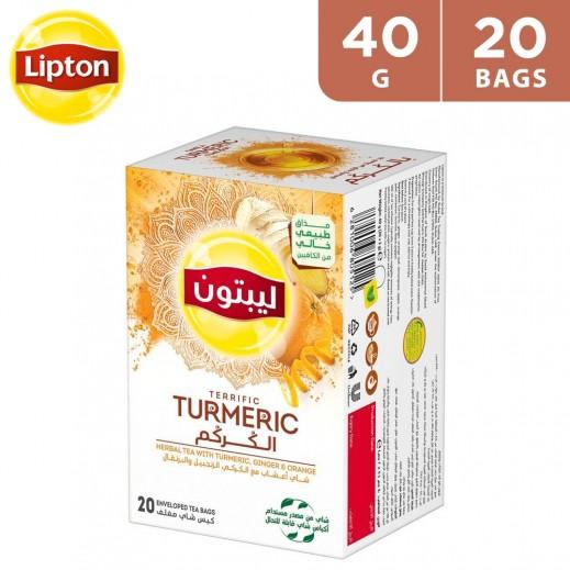 Lipton Terrific Turmeric Herbal Tea 20 Tea Bags 40 g