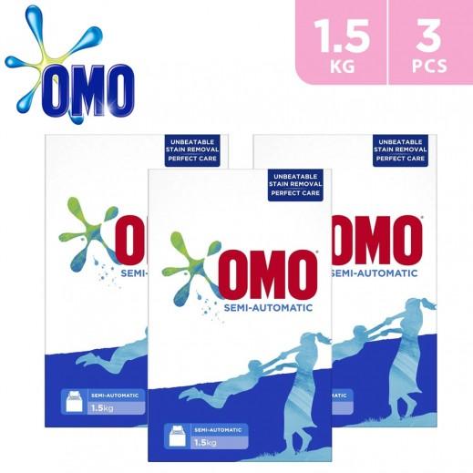 OMO Active Laundry Detergent Powder 3 x 1.5 kg