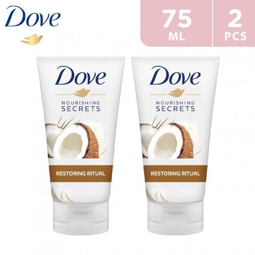 Dove Restoring Coconut Ritual Hand Cream For Dry Skin 2 x 75 ml