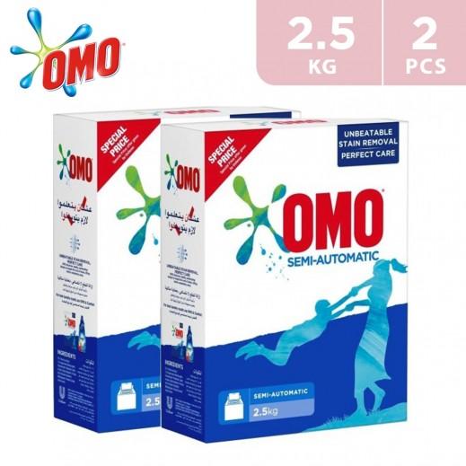 OMO Semi Automatic Fabric Cleaning Powder 2x2.5 kg