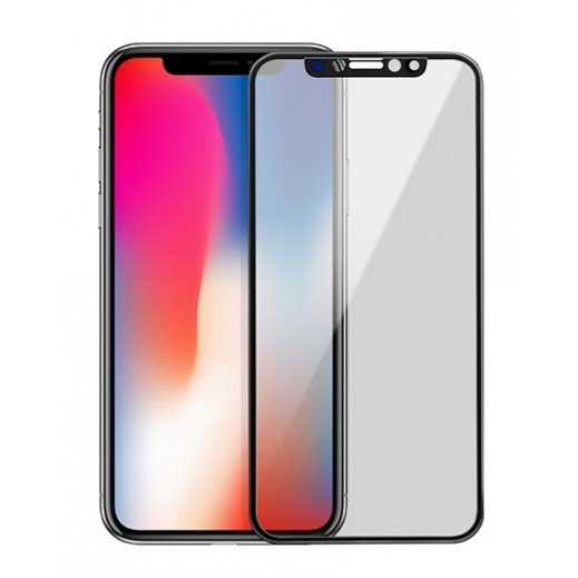 Hoco Anti- Spy Privacy 3D Glass iPhone X - Black