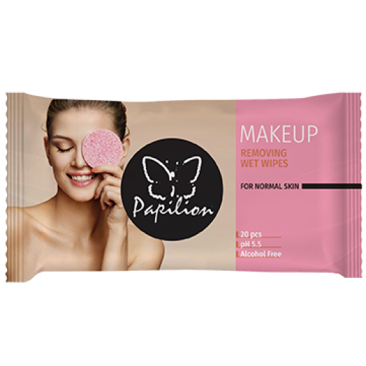 Papilion Make Up Remover Wet Wipes With Cap 20 Sheets