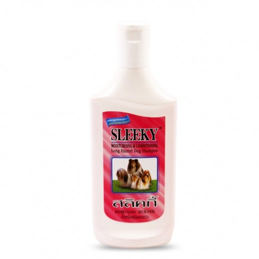 Sleeky Moisturising & Conditioning Long Haired Dog Shampoo 350 ml