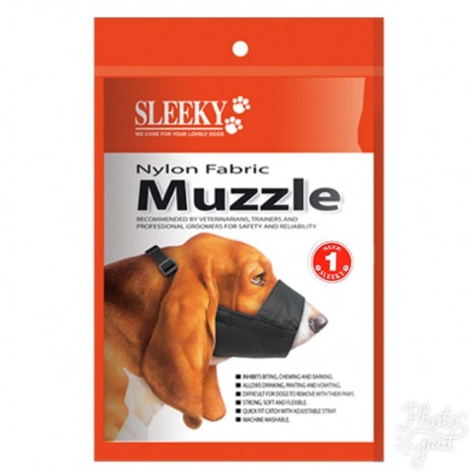 Sleeky Nylon Fabric Muzzle Size 1