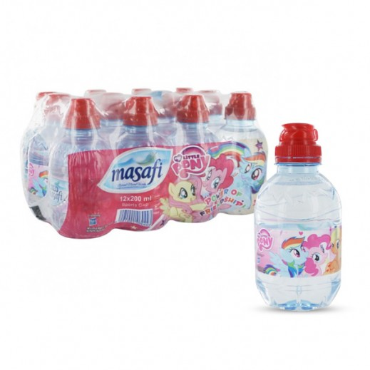 Masafi Sport Cap (Little Pony) Water (12x200 ml)