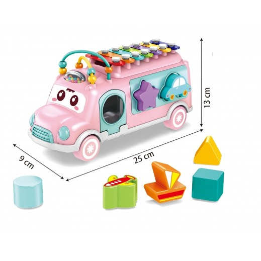 Educational Bus Xynophone Pink