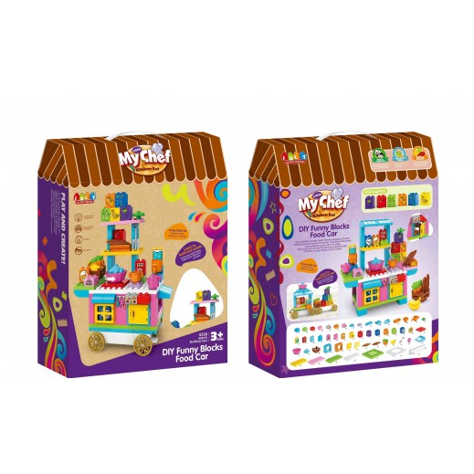 My Chef Dining Carts Blocks 90 Pieces