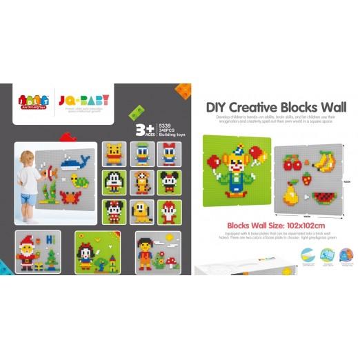 Jun Da Long Toys Wall Blocks 348 Pieces (3+ Years)