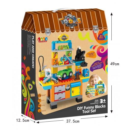 Jun Da Long Toys Tool Set Blocks 92 Pieces (3+ Years)