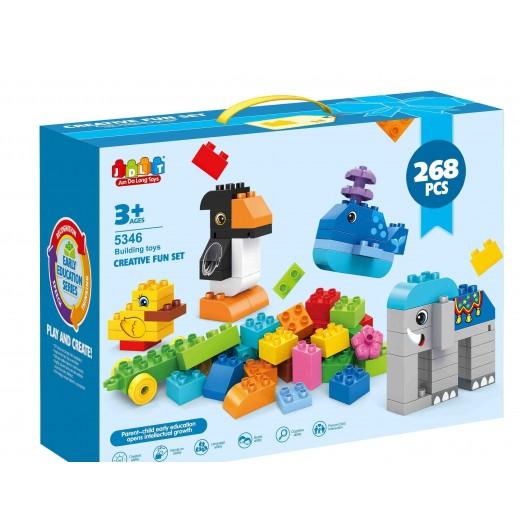 Jun Da Long Toys Building Creative Block Set 268 Pieces  (3+ Years)