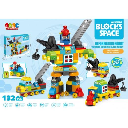 Jun Da Long Toys Deformation Robort Variable Building Blocks 132 Pieces