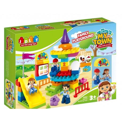 Jun Da Long Toys Family Playground Blocks 68 Pieces (3+ Years)