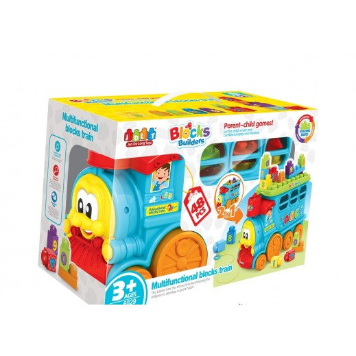 Jun Da Long Toys Multifunctional  Blocks Train 48 Pieces (3+ Years)