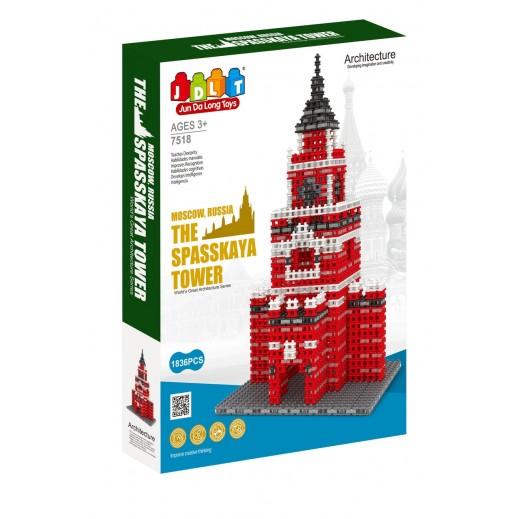 Jun Da Long Toys The Spasskaya Tower Blocks 1836 Pieces (3+ Years)