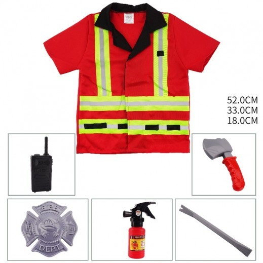 Kids Dress Fire Engine Free size 3 + years