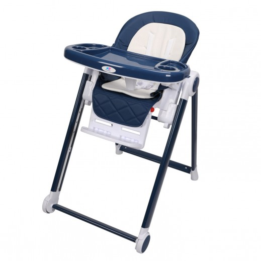 TheKiddoz High Chair With Adjustable Pedals Navy Blue
