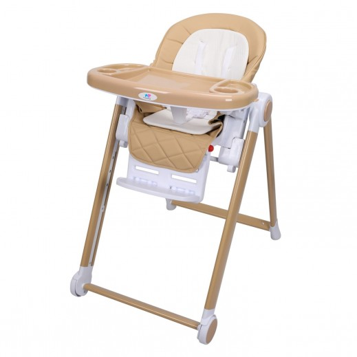 TheKiddoz High Chair With Adjustable Pedals Ivory