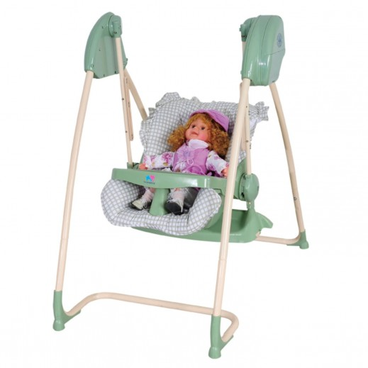 TheKiddoz 2 In 1 High And Swing Chair Green