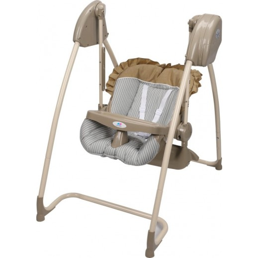 TheKiddoz 2 In 1 High And Swing Chair Beige