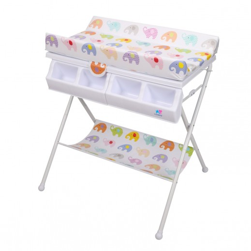 TheKiddoz Bath And Diaper Changing Table Elephant Design (0-3 Years)