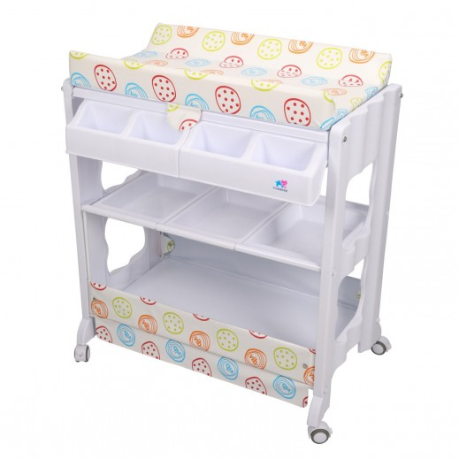 TheKiddoz Diaper Changing Table With Bathtub